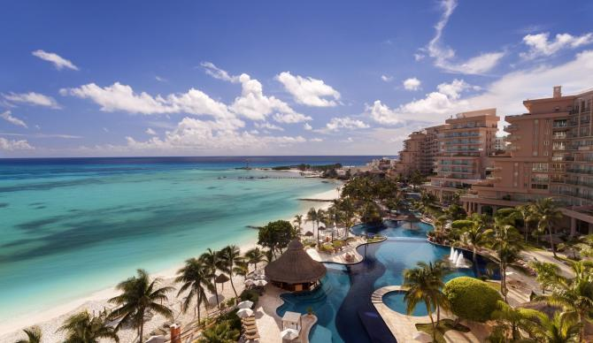 View of the Grand Fiesta Americana, Cancun Mexico CME CLE CE destination.