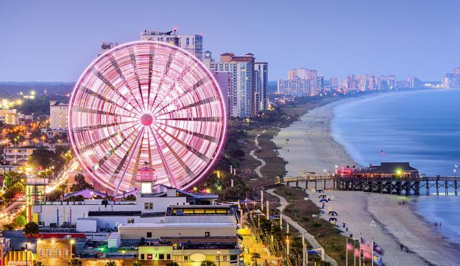 View of the Hilton Myrtle Beach Resort, Myrtle Beach, South Carolina CME CLE CE destination.