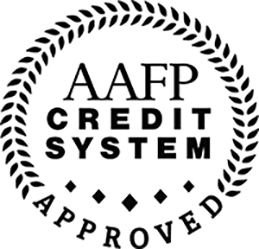 AAFP credit system approved logo