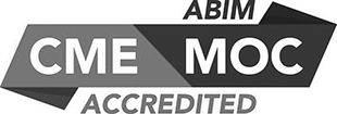 ABIM CME MOC accredited logo